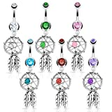 Pretty Show Navel Surgical Steel Dream Catcher Dangle Belly Button Rings
