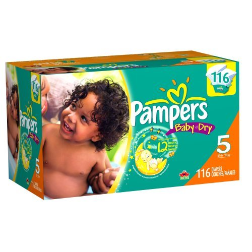 Pampers Baby Dry Diapers, Size 5, 116 Count front-177171