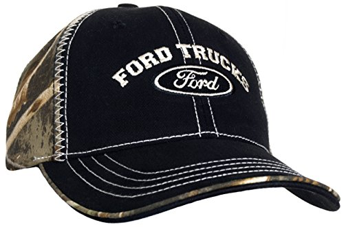 Ford Trucks Logo Black Woodland Camouflage Ball Cap (Girl Ford Accessories compare prices)