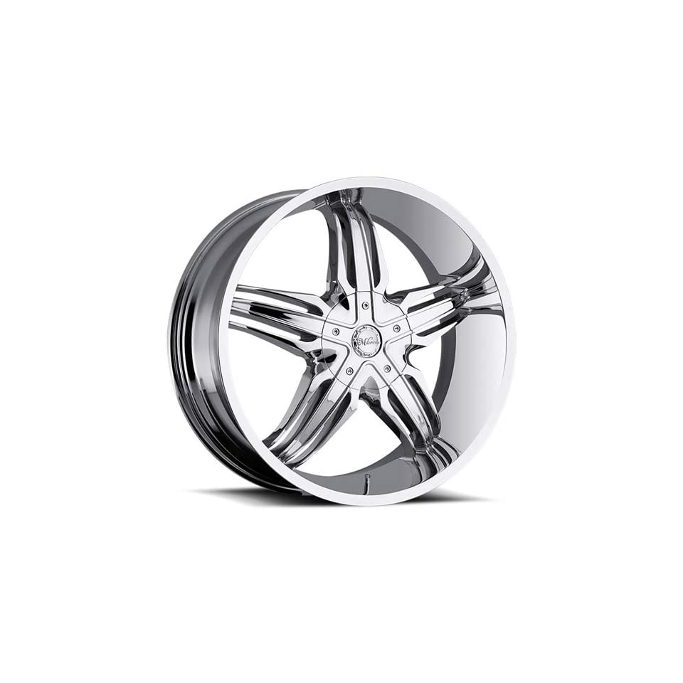 Milanni Phoenix 22 Chrome Wheel / Rim 6x5.5 with a 20mm Offset and a 110 Hub Bore. Partnumber 458 22983C20