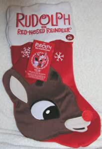"Rudolph the Red Nosed Reindeer 18"" Fiber Optic Light Up Christmas Stocking"