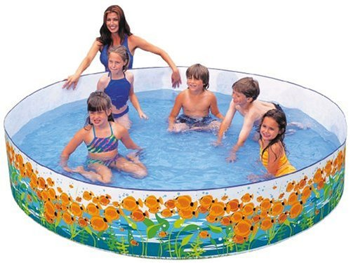 Intex sun fish snapset pool for families no inflating for Intex pool koi pond