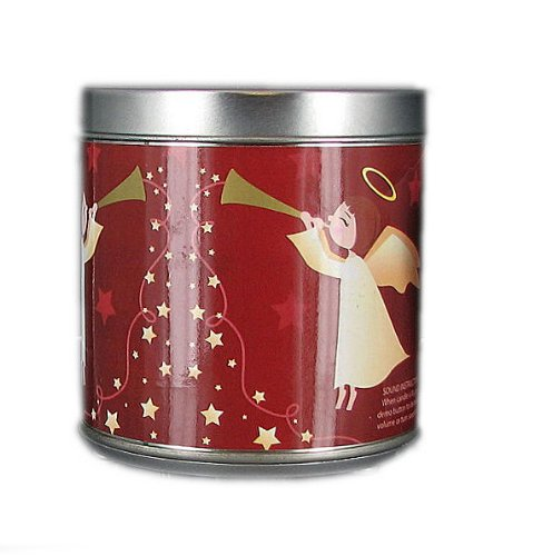 Scented Christmas Musical Jar Candle Heavenly Spice