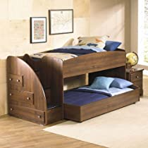 Hot Sale Standard Furniture Parker 2 Piece Loft Bedroom Set W/ Trundle In Golden Brown Cherry