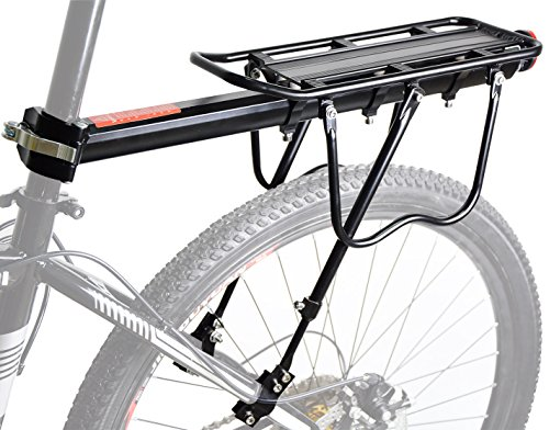 Malker Bike Cargo Rack, Adjustable Height Almost Universal Bicycle Carrier Rack (Including Installation Tools and Instructions) (Universal Cargo Rack compare prices)