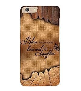 Bless Love Laughter 3D Hard Polycarbonate Designer Back Case Cover for Micromax Canvas Knight 2 E471