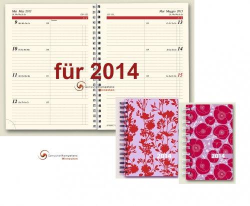 Brunnen Buchkalender 2014 Flowers Timing1 Spiralbindung A5 14,8x21 Kalender 2014