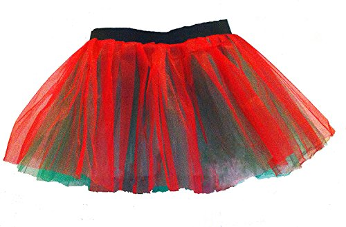 Christmas Gift Red Green Tutus Rave Party Tutu Skirt Adult Teen Large Child Free Ship