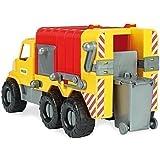 Wader Camión de basura con tonelada extraíble, resistente a la intemperie y estable, Hecho en UNIÓN EUROPEA 46 cm Juguete LKW Coche de juguete Juguetes Del Vehículo Playa La Arena