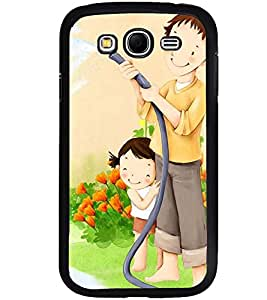 Printvisa Father Daughter Gardening Back Case Cover for Samsung Galaxy Grand i9080:::Samsung Galaxy Grand i9082