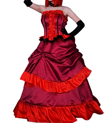 ROLECOS Womens Madame Rouge Cosplay Maxi Dress Red M (Madame Red compare prices)