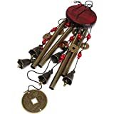 Amazing 4 Tubes 5 Bells Bronze Yard Garden Outdoor Living Wind Chimes