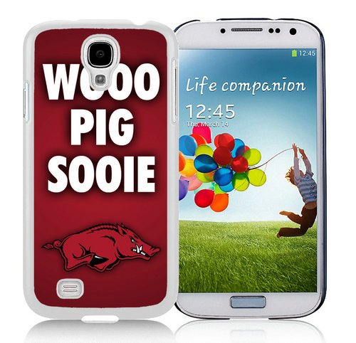 Ideal Custom Phone Cases For Samsung Galaxy S4 I9500 i337 M919 i545 r970 l720 With NCAA Arkansas Razorbacks 1 White