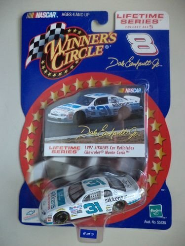 Lifetime Series Issue #2 of 5 Busch Grand National 1997 Dale Earnhardt Jr #31 White & Blue SIKKENS Car Refinishes Chevrolet Monte Carlo 1/64 Scale Diecast With Photo Card Insert Winners Circle