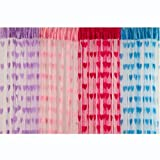 China Mania Romantic Heart Shape Curtains - Set Of 4 Multicolor