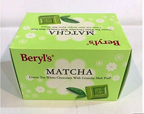 HK(TM) Berly's Green Tea White Chocolate with Crunchy Malt Puff