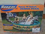 Banzai drinking water Slide:BANZAI squirt 'N dash ZEBRA swimming pool PLAY PARK