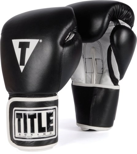 TITLE Boxing Pro Style Leather Training Gloves