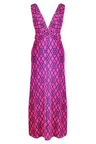 G2 Chic Women's Summer Tribal Printed Maxi Dress(DRS-MAX,FCHA1-L)