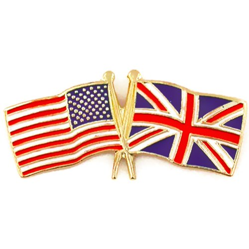 USA and United Kingdom Crossed Friendship Flag Lapel Pin (World Flag Pins compare prices)