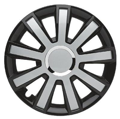 4er-Satz Radkappen 16 Zoll Master Line Plus C Flash_black-silver für BMW, Radblenden Radzierblenden Radkappe von Albrecht