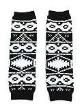 KWC - American Indian Tribal Black White Baby Toddler Leg Warmer (Coyote Tracks)