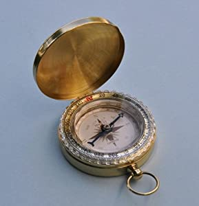 Stanley London Solid Brass Wilderness Scouting Compass by Stanley London