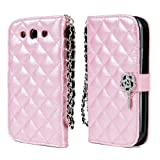 TORU iHand Diamond Quilted Fashion Wallet Case for Samsung Galaxy S3 III - Pink