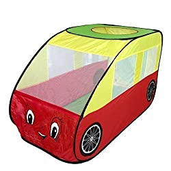 Pericross Portable Kids Adventure Car Trunk Pop up Play Tent Cute Toy House Child Fun Hut Indoor Outdoor Game House Velcro Closure