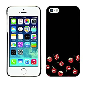 Omega Covers - Snap on Hard Back Case Cover Shell FOR Apple iPhone 5 / 5S - Flowers Red Minimalist Dark Art