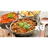 SET OF 6 STAINLESS STEEL 17CM BALTI DISHES - INDIAN SERVING DISHES - CURRY NIGHT - Fast Dispatch