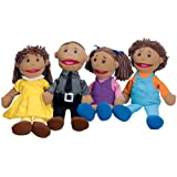 "Full Bodied"" Open Mouth Puppets - Latino Family"""
