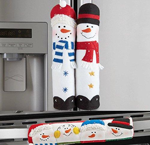 Refrigerator Freezer Oven Winter Snowman Appliance Handle Covers 3 Pc Set (Fridge Handle Cover 3 Pc compare prices)