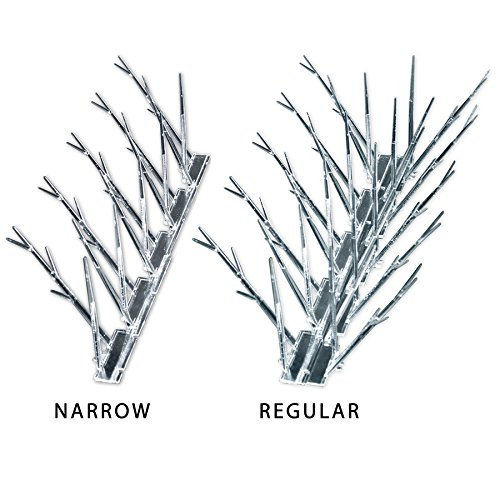 Bird-X SP-10-NR Plastic Narrow Bird Spikes 10 foot Kit with Adhesive Glue