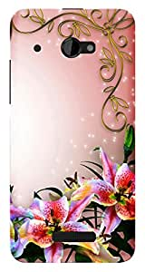 TrilMil Printed Designer Mobile Case Back Cover For HTC Butterfly X920D
