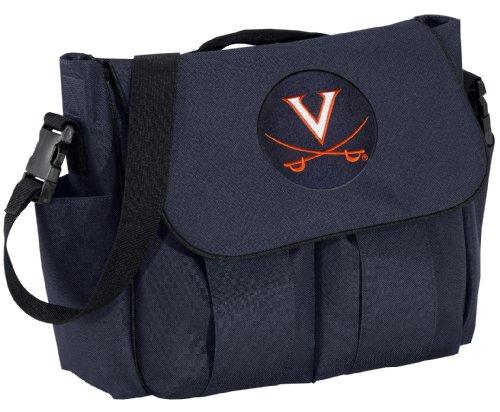 Uva Diaper Bag Official Ncaa College Logo Blue University Of Virginia Baby Show front-1059055