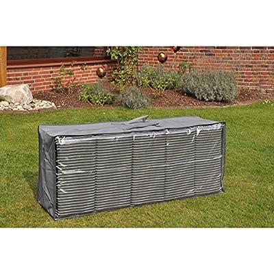 Schutzhülle für Auflagen Auflagentragetasche Polstertasche 125x32x50 cm anthrazit von MLG - Gartenmöbel von Du und Dein Garten