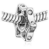 Pugster 6-Pointed Star Clear Crystal Charm Beads Fit Pandora Charm Bead Bracelet