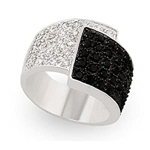 JanKuo Jewelry Clear and Black Color CZ Diamonique Ring with Gift Box (5)