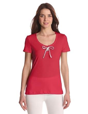 Nautica Sleepwear Women's Solid Sleep Tee, Cabana Pink, X-Small