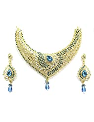 CLASSICAL INDIAN TRADITIONAL JEWEL SET BY ZAVERI PEARLS-ZPFK1472