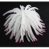 Mallofusa ® Aquarium Fish Tank Silicone Sea Anemone Artificial Coral Ornament White + Mallofusa Cable Tie