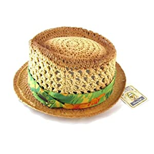 Small Toyo Straw Hat With Tropical Band
