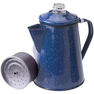 Old Time Coffee Maker : NEW Old Fashioned Outdoors Camping Blue Enamelware Percolator Coffee Maker 8 Cup eBay