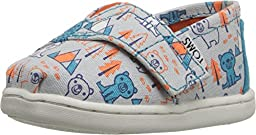 TOMS Kids Unisex Seasonal Classics (Infant/Toddler/Little Kid) Grey Multi Canvas Bears Loafer 3 Infant M