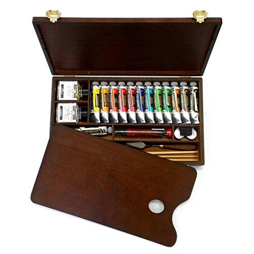 royal-talens-huile-rembrandt-boite-de-couleur-edition-en-bois-professionnel-poitrine-avec-pinceaux-p