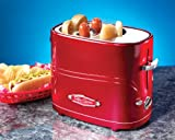 Nostalgia Electrics HDT600RETRORED Retro Series Pop-Up Hot Dog Toaster
