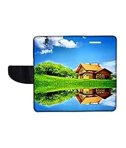 KolorEdge Printed Flip Cover For Sony Xperia Z Multicolor - (50KeMlogo09122XperiaZ)