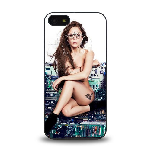 Iphone 5 5S Case Protective Skin Cover With Pop Star Lady Gaga 2013 Latest Poster Cool Design