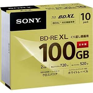 ソニー 日本製 ビデオ用BD-RE XL 書換型 片面3層100GB 2倍速 ホワイトワイドプリンタブル 10 10BNE3VCPS2